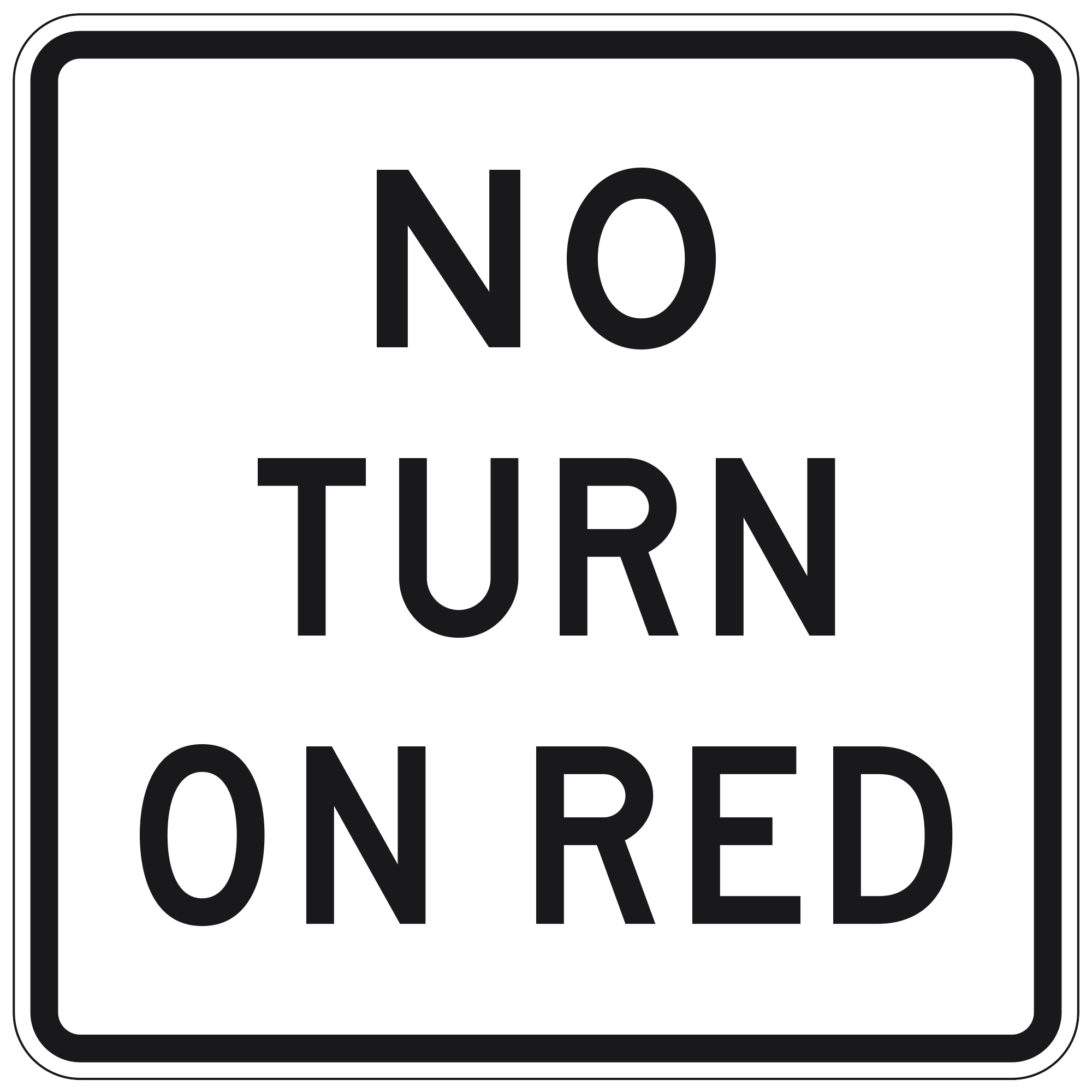Signale No Turn on Red - Immagine www.trafficsign.us