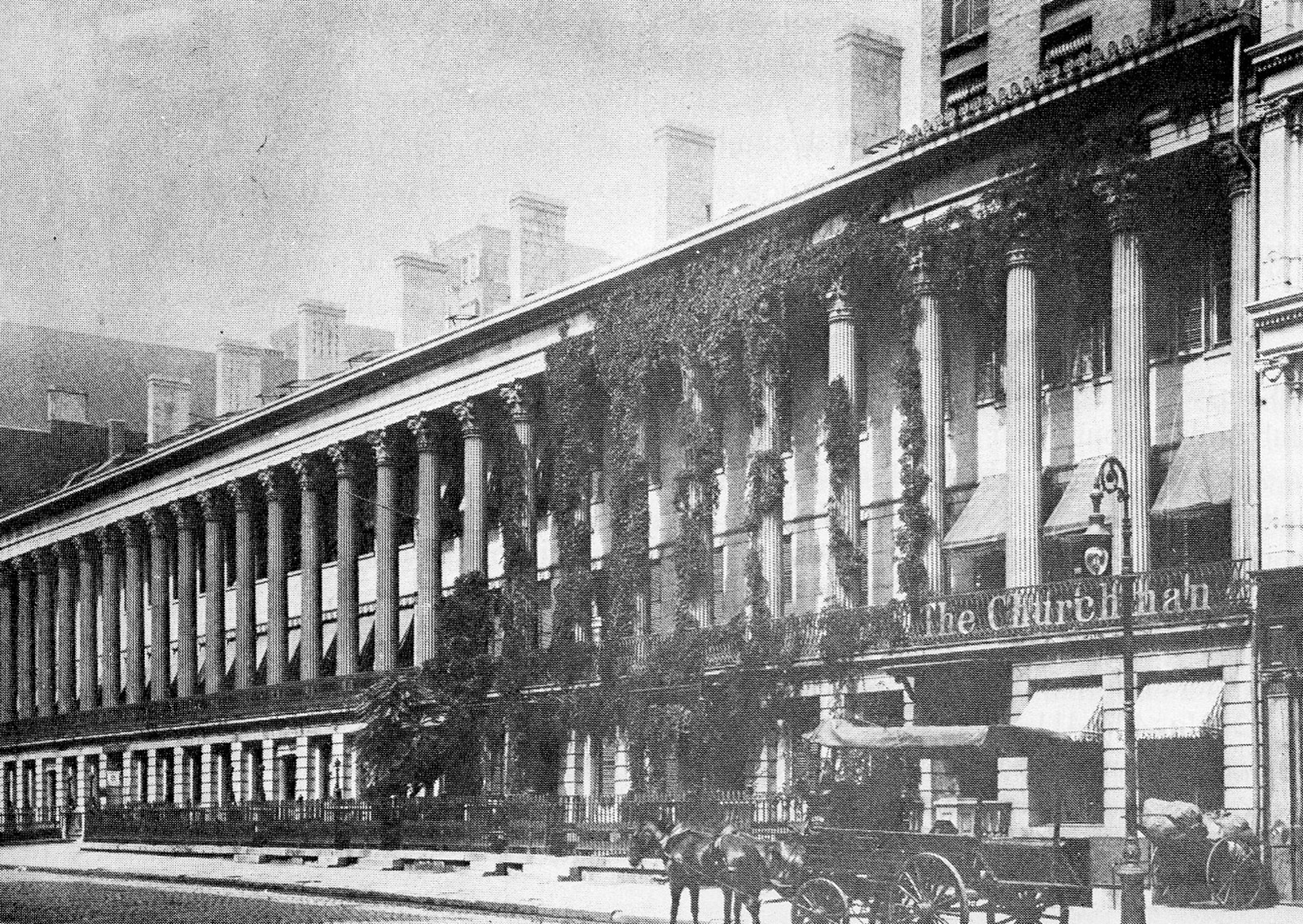 La Grange Terrace (Colonnade Row) and Lafayette Street in a 19th-century photograph - Foto https://ephemeralnewyork.wordpress.com/