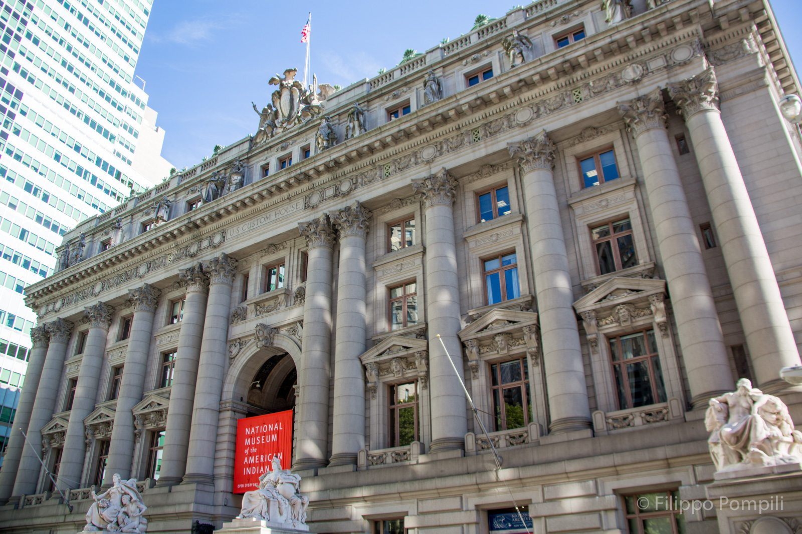 La Alexander Hamilton U.S. Custom House sede del National Museum of the American Indian (George Gustav Heye Center) - Foto Filippo Pompili